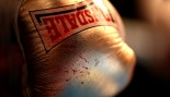 A blood stained glove is seen during Boxing at York Hall on October 10. thumbnail