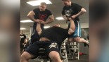 Watch Strongman Eddie Hall Bench Press Two Men thumbnail