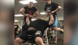 Watch Strongman Eddie Hall Bench Press Two Men thumbnail