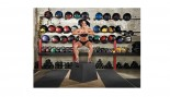 Dana Linn Bailey demonstrating box jump. thumbnail