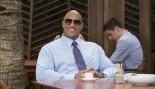 Dwayne Johnson Seated At Restaurant Wearing Tie thumbnail