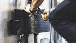 Stack of Weights o Machine at Gym thumbnail