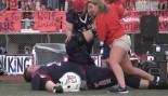 7-Foot, 440-Lb High School Football Player Dwarfs Competition thumbnail