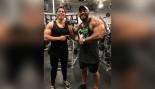 Joseph Baena Poses With Sergio Oliva Jr.  thumbnail