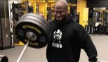 Pittsburgh Steeler James Harrison Working Out in Gym thumbnail