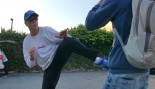 Jean-Claude Van Damme proves he really can KICK ass  thumbnail