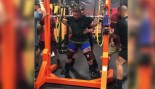 Jeremy Oleson squatting 931 pounds thumbnail