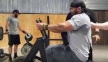 Bodybuilder Performing Back Row Exercise thumbnail