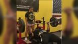 Larry Wheels benching 225 pounds 70 times thumbnail