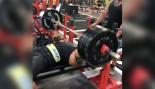 Larry Wheels benching  500 pounds 11 times thumbnail