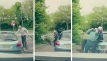 Brutal road rage fight. thumbnail