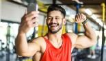 Man taking selfie in gym thumbnail