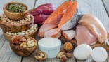 Protein rich foods including fish, chicken, nuts and beans thumbnail