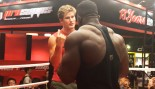 Watch: UFC Lightweight Sage Northcutt Wrestles Bodybuilding Pro Blessing Awodibu  thumbnail