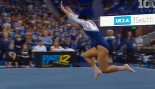 College Gymnast Amuses The Crowd With Her Floor Routine thumbnail
