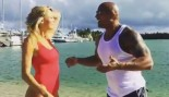 The Rock Welcomes Kelly Rohrbach to the Baywatch Cast thumbnail