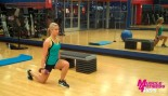Whitney Wiser doing a reverse lunge. thumbnail