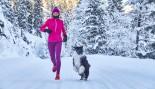 Woman running in snow thumbnail