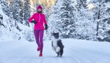 Woman running in snow thumbnail