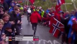 WATCH: Jackass Cycling Fan Gets Hammered by Norwegian Security thumbnail