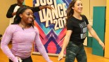 Simone Biles & Aly Raisman Attend 'Just Dance' Event at Kips Bay Boys and Girls Club thumbnail