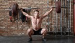 Man Does Barbell Squat Snatch Exercise thumbnail