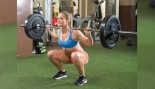 Woman In A Gym Doing A Back Squat  thumbnail