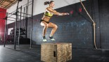 Woman Doing A Box Jump thumbnail