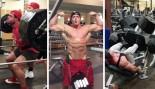 Bradley Castleberry lifting weights. thumbnail