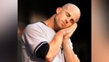 Brett Gardner #11 Of The New York Yankees Takes A Mock Nap thumbnail