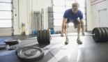 Deadlift barbell at gym thumbnail