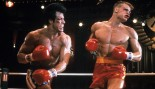 Sylvester Stallone punches Dolph Lundgren in a scene from the film 'Rocky IV', 1985 thumbnail