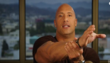 Dwayne Johnson pretending to strangle a man.  thumbnail