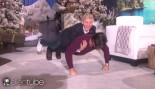 Milo Ventimiglia Does Pushups with Ellen on His Back thumbnail
