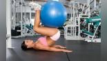 Exercise Ball Reverse Crunch  thumbnail