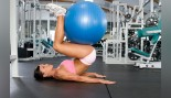 Exercise Ball Reverse Crunch  thumbnail