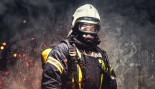 Fireman Standing With Gear  thumbnail