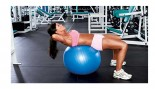woman doing crunches on an exercise ball thumbnail