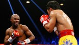 Floyd Mayweather Jr. Smiles At Manny Pacquiao  thumbnail