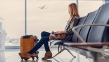 Woman Waiting in the Airport thumbnail