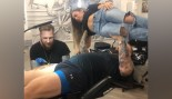 Thor Bjornsson Bench Pressing His Wife While Getting Tattooed thumbnail