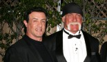 Hulk Hogan and Sylvester Stallone embrace.  thumbnail