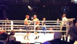 Watch: Boxer gets knocked out cold by ice bucket after winning a fight thumbnail