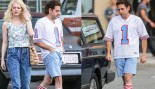 Photos: Jonah Hill Rocks Leaned-Out Physique and '80s-Style Mullet On-Set With Emma Stone thumbnail