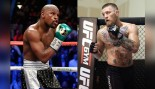 Mayweather and McGregor move on the canvas in their respective sports.  thumbnail