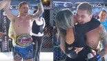 Watch: MMA Audience Member Jumps Out of the Crowd, Into the Ring to Win a Championship Belt thumbnail