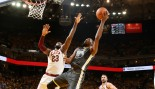 JUNE 3: LeBron James #23 of the Cleveland Cavaliers defends Kevin Durant #35 of the Golden State Warriors in Game Two of the 2018 NBA Finals on June 3, 2018 at ORACLE Arena in Oakland, California.  thumbnail