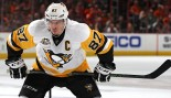 Sidney Crosby #87 Of The Pittsburgh Penguins On The Ice thumbnail