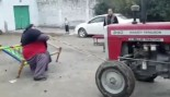 Pakistani Man Stops Tractor With Bare Hands thumbnail
