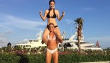 This Gorgeous Fitness Model Katina Konow Can Do Squats With Her Sister on Her Back thumbnail